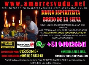 BRUJO PERUANO EXPERTO EN AMARRES VUDÚ